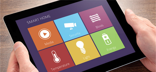 Smart Home Steuerung via Tablet